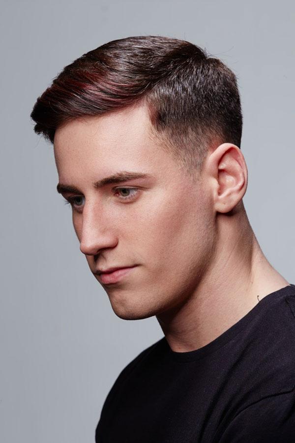 man with dark hair